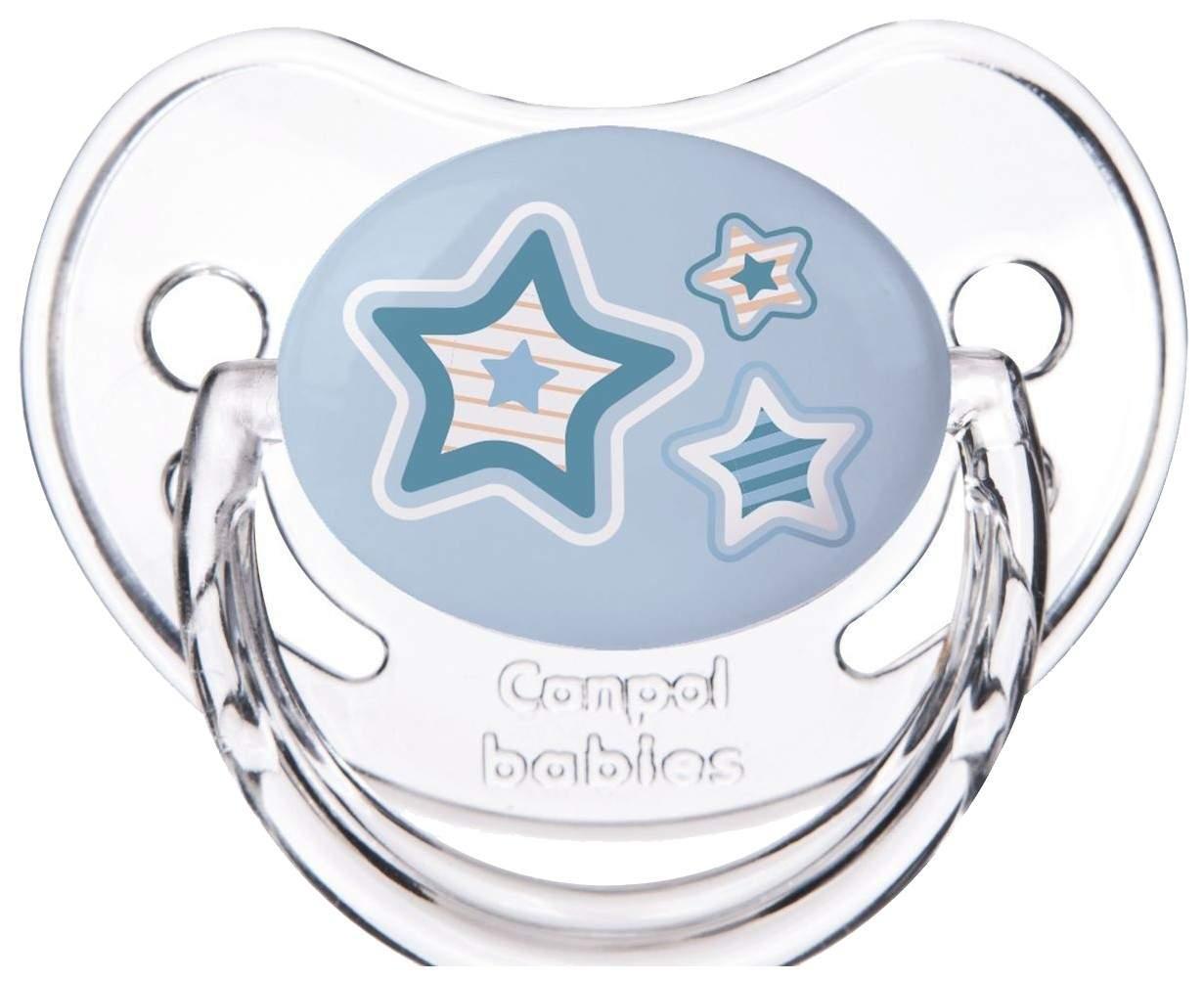 Пустышка Canpol Newborn baby симметричная, силикон, 0-6 мес., арт. 22/580 цвет голубой