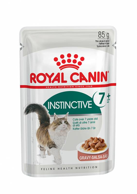 Влажный корм для кошек ROYAL CANIN Instinctive +7, для пожилых, мясо, 85г