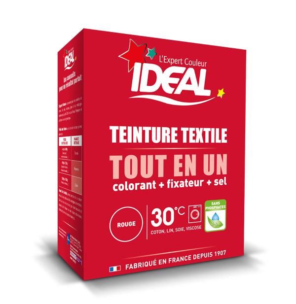 Краска для одежды и тканей Ideal MAXI Все в Одном красная, 350 г