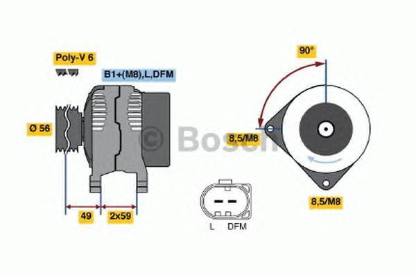 Генератор Bosch 0124315003