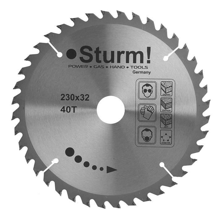 Диск по дереву для дисковых пил Sturm! 9020-02-230x32-40