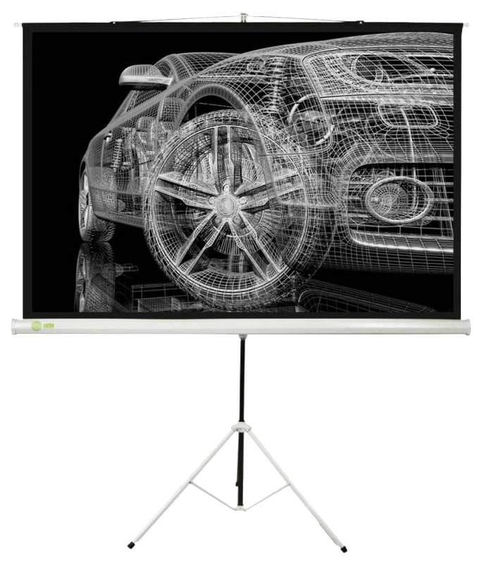 Экран для видеопроектора Cactus Triscreen CS-PST-124x221 Белый