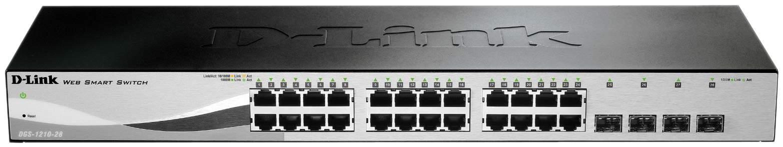 Коммутатор D-Link Web Smart DGS-1210-28/C1A Серый, черный