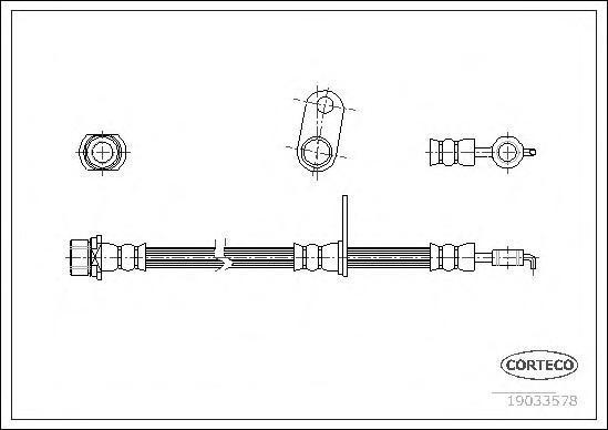 Шланг тормозной Corteco 19033578