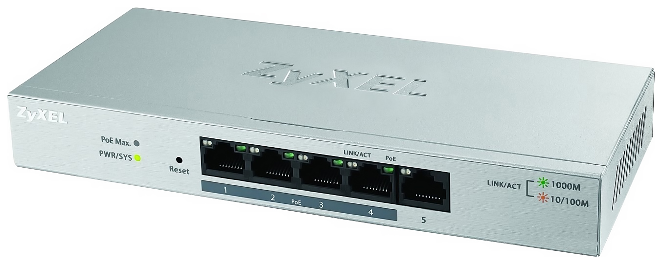 Коммутатор Zyxel GS1200-5HPv2