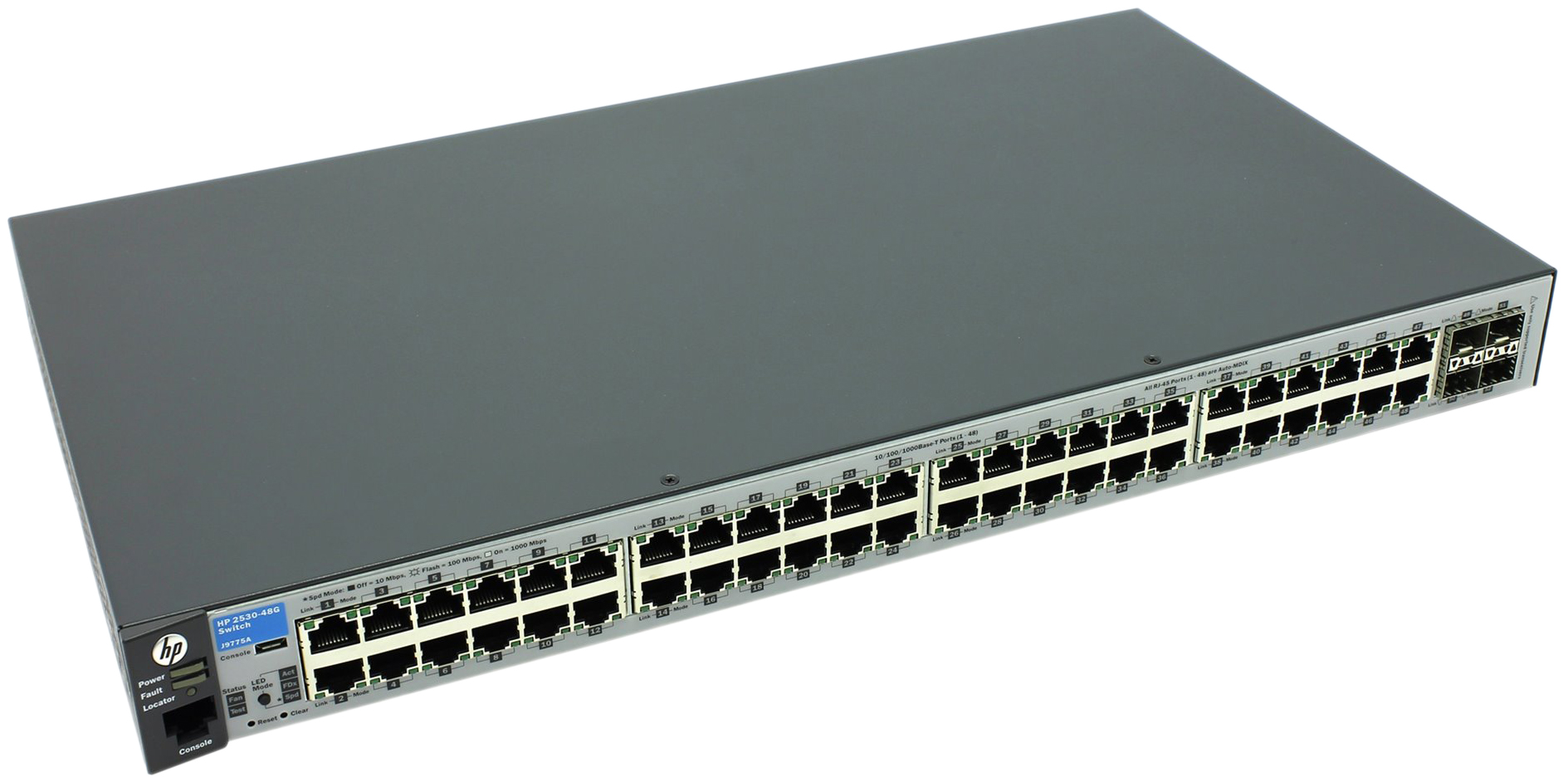 Коммутатор HP Aruba 2530-48G J9775A Серый, черный