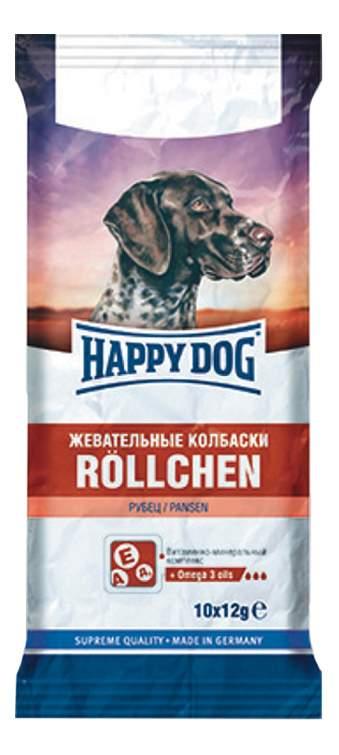 Фотография Лакомство для собак Happy Dog, жевательные колбаски с рубцом, 120г №1