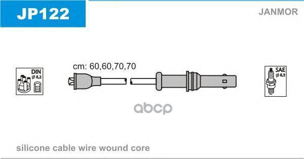 Комплект проводов зажигания JANMOR JP122