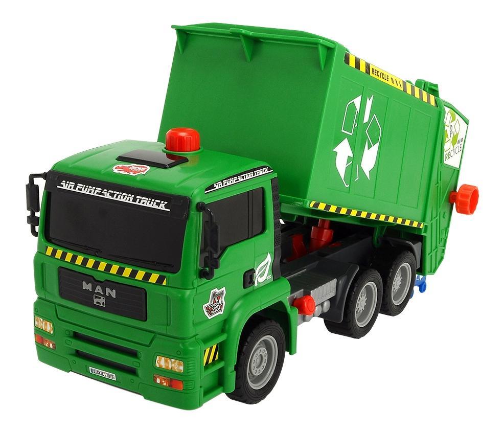 Городской транспорт Dickie Toys Мусоровоз с контейнером AirPump 3805000