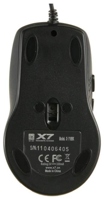 Проводная мышка A4Tech X-718BK Black
