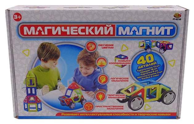 Конструктор ABtoys Магический магнит 40 деталей PT-00748