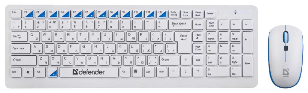 Комплект клавиатура+мышь Defender Skyline 895 Nano (45895)