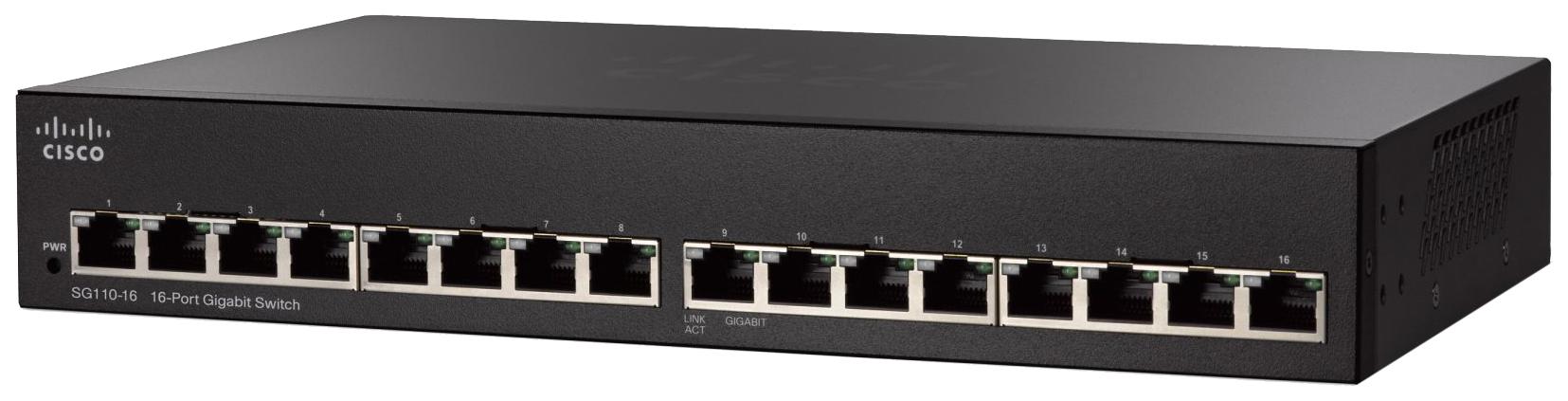 Коммутатор Cisco 100 Series SG110-16-EU
