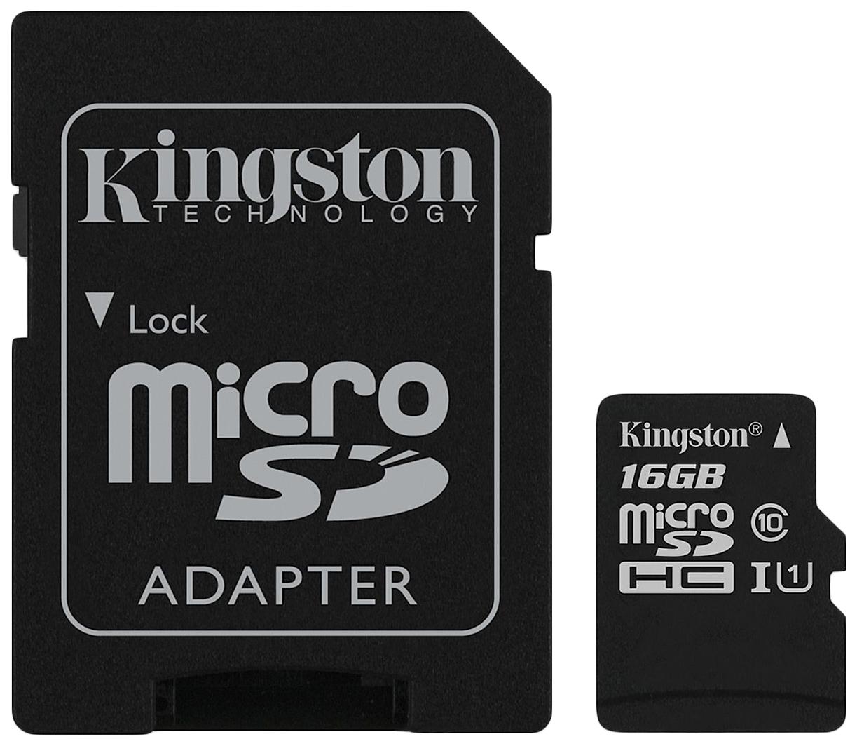 Карта памяти Kingston Micro SDHC SDCS 16GB
