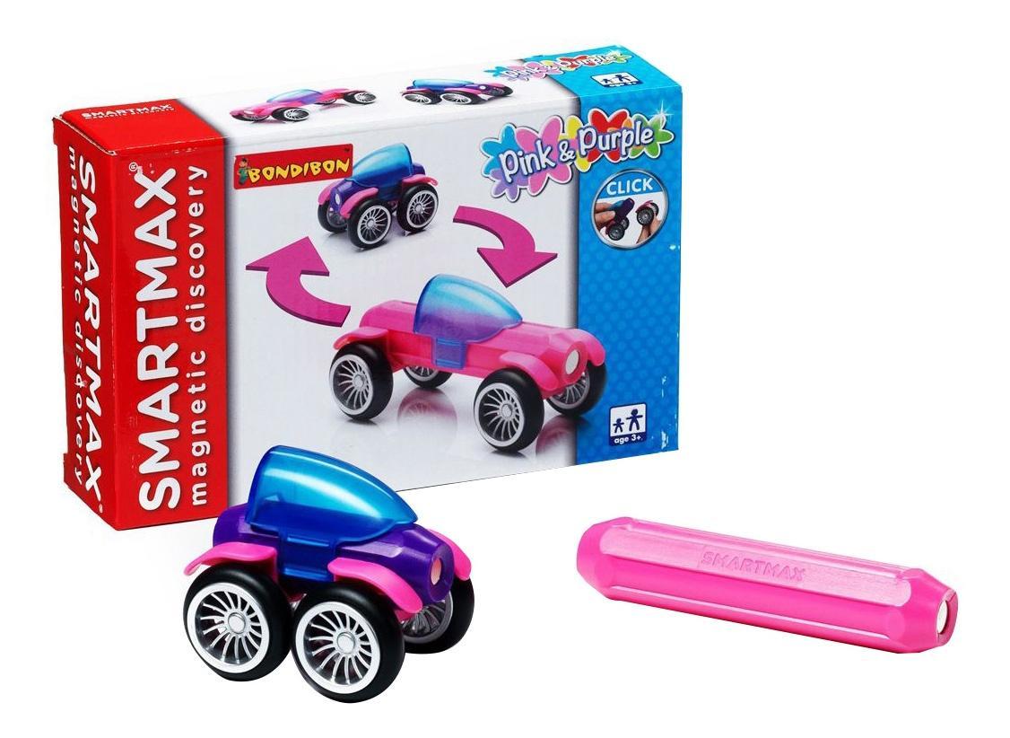 Магнитный конструктор smartmax/ Bondibon специальный набор: розовый и фиолетовый