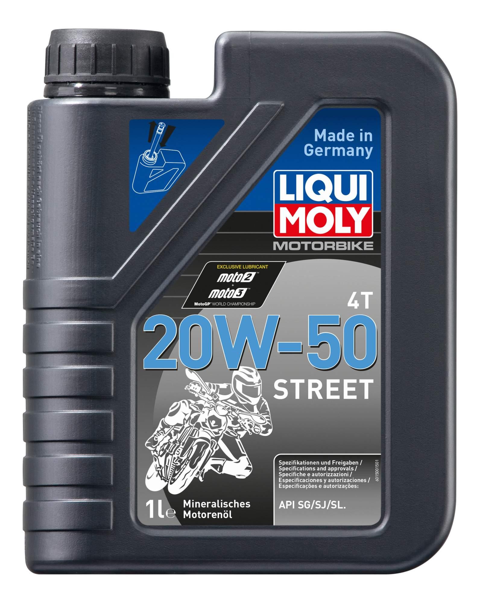 Моторное масло Liqui moly Motorbike 4T Street 20W-50 1л