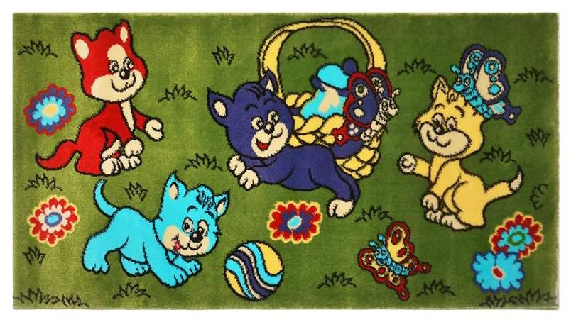 Ковер детский Kamalak tekstil зеленый 100х150 УКД-2061