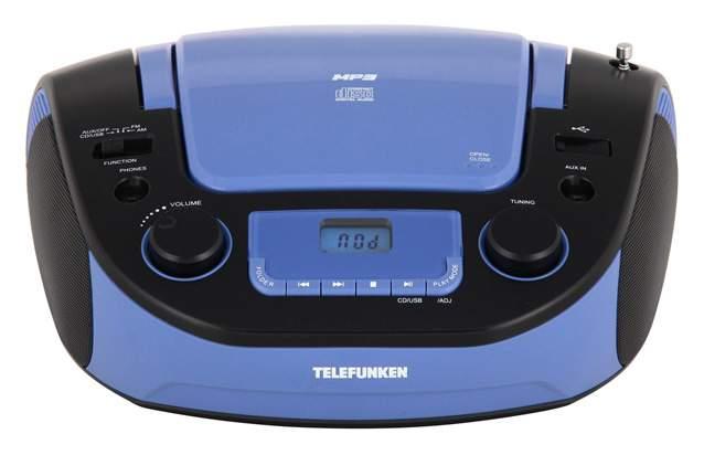 Магнитола TELEFUNKEN TF-CSRP3481 Голубой черный