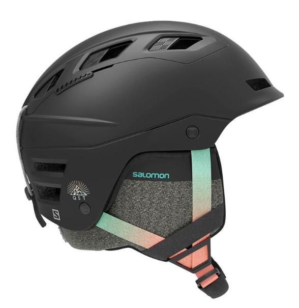 Горнолыжный шлем женский Salomon Qst Charge 2020, черный, S