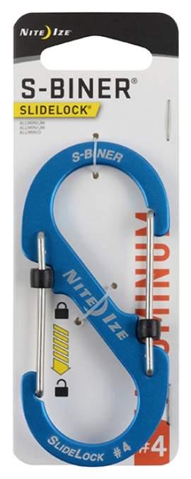 Карабин алюминиевый Nite Ize S-Biner SlideLock #4 LSBA4-09-R6 Blue