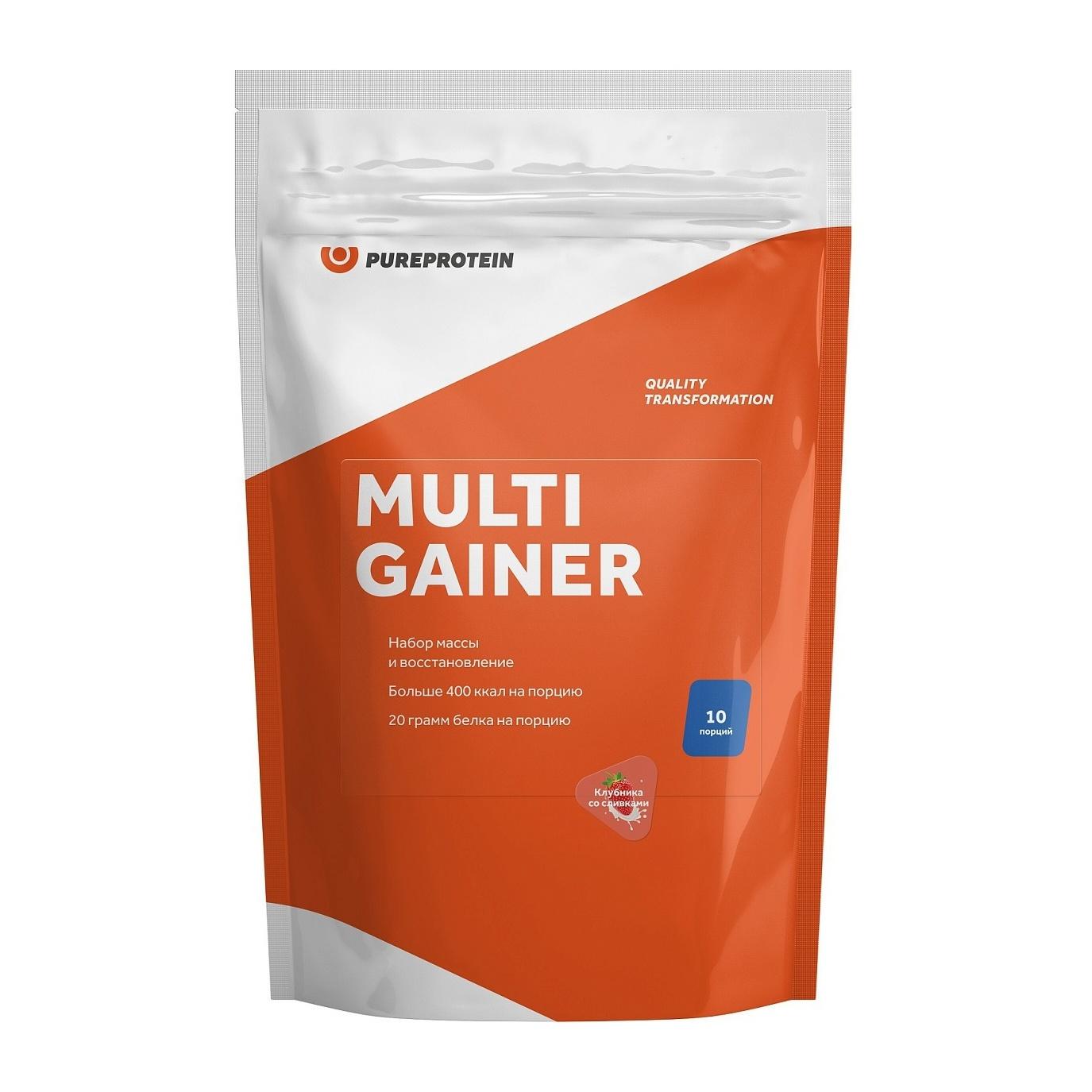 Гейнер PureProtein Multi Gainer 1000 г клубника со сливками