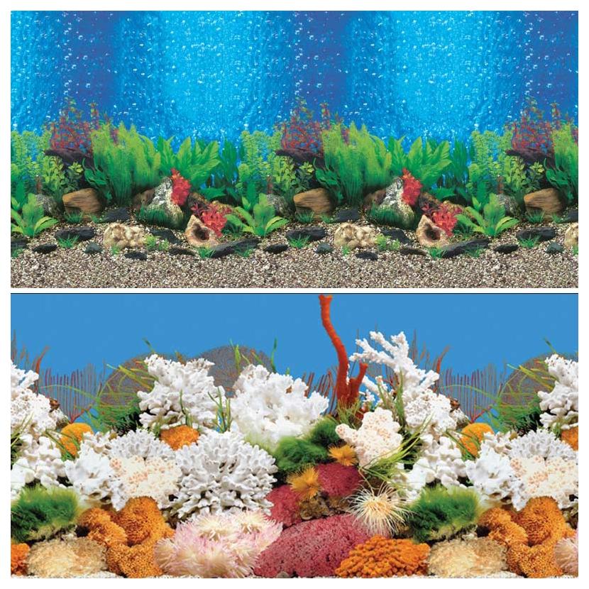 Фон для аквариума Laguna 9019/9029 Голубые Гавайи/Белый коралл 74064025
