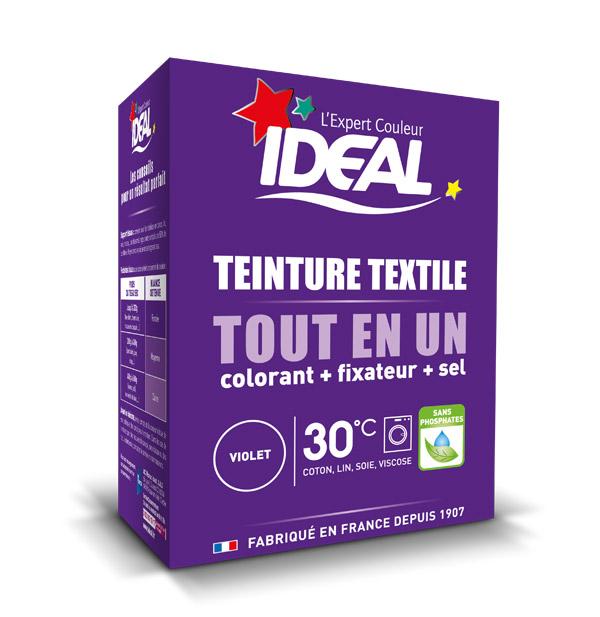 Краска для одежды и тканей Ideal MINI Все в Одном фиолетовая, 230 г