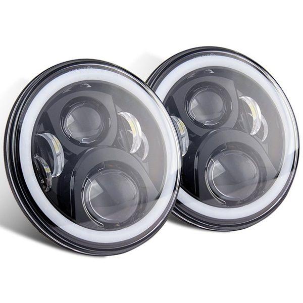 Комплект штатных светодиодных фар головного света 70 ватт 7 дюймов с ДХО 7D2P-70W