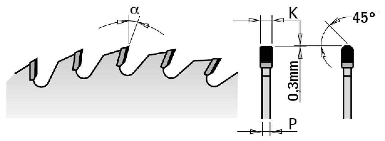 Диск пильный 300x30x3.2/2.2 10° 45° TCG Z=60 (DIA) CMT 237.060.12M