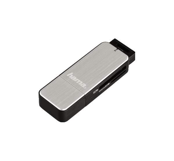 Устройство для чтения карт памяти Hama 123900 Черное серебро