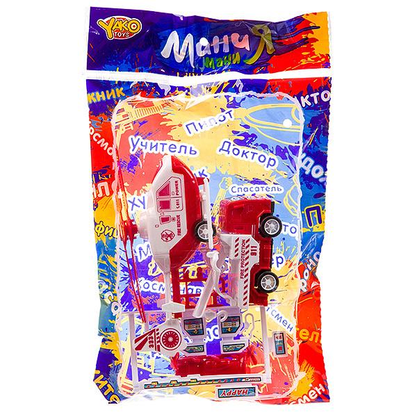 Набор пластм. пожарная техн. ,6 предметов, PAC 19x29 см, серия МиниМаниЯ, арт. М7476.