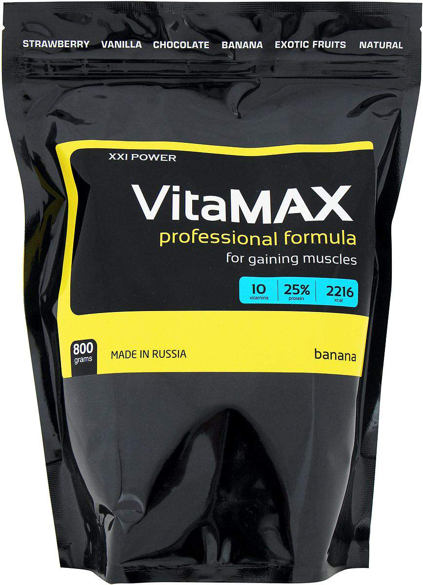 Гейнер XXI Power VitaMAX 800 г Banana