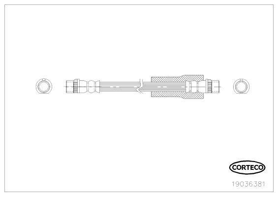 Шланг тормозной системы CORTECO 19036381