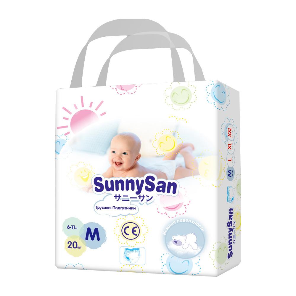 Трусики-подгузники SunnySan M 6-11 кг 20 шт.