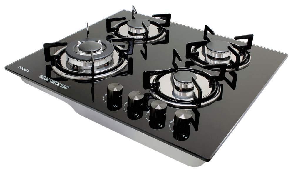 Встраиваемая варочная панель газовая Ginzzu HCG-443 Black