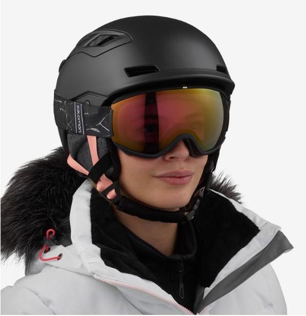 Горнолыжный шлем женский Salomon Qst Charge 2020, черный, M