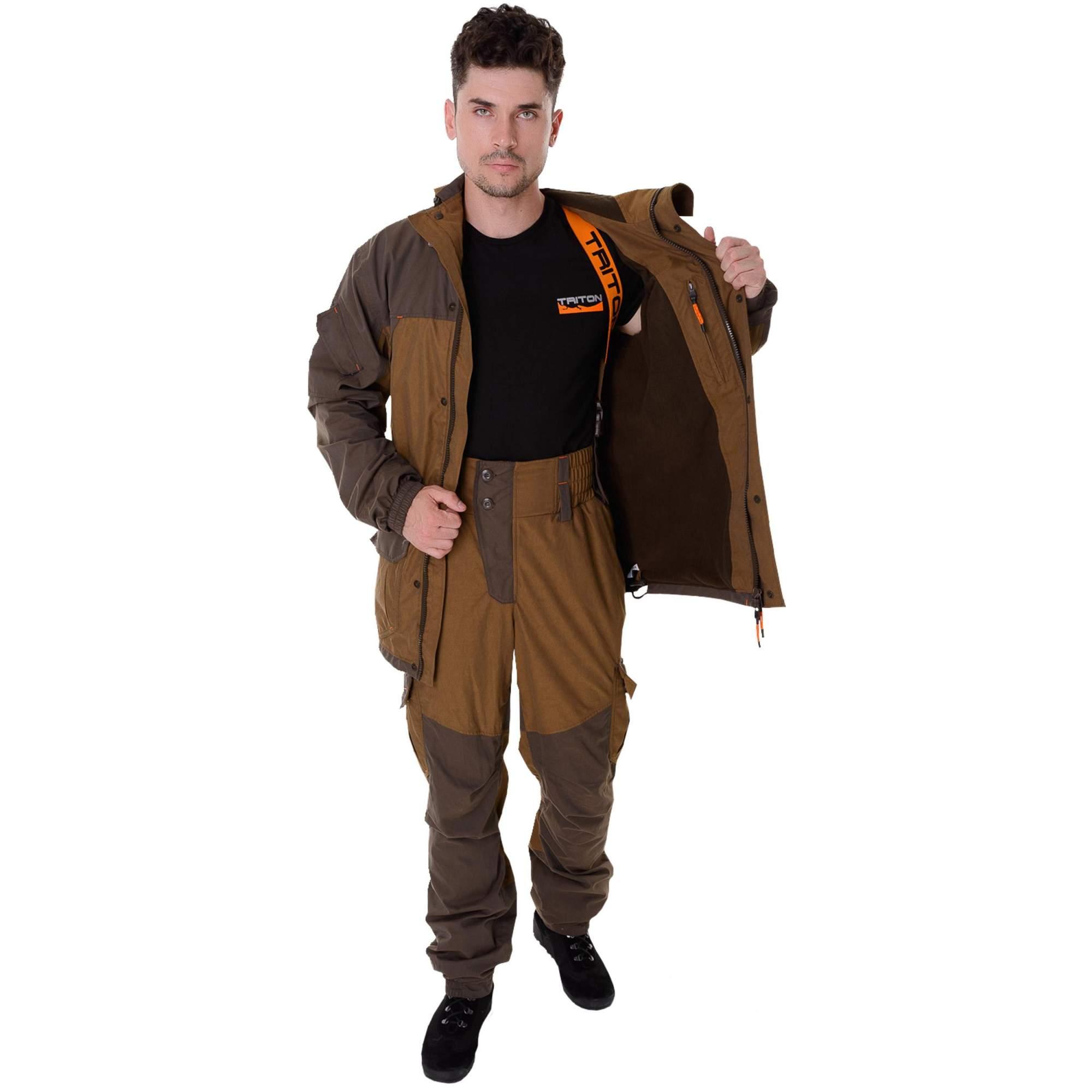 Миниатюра Костюм для рыбалки Triton Горка-5, коричневый, 120-124 RU, 182-188 см №7