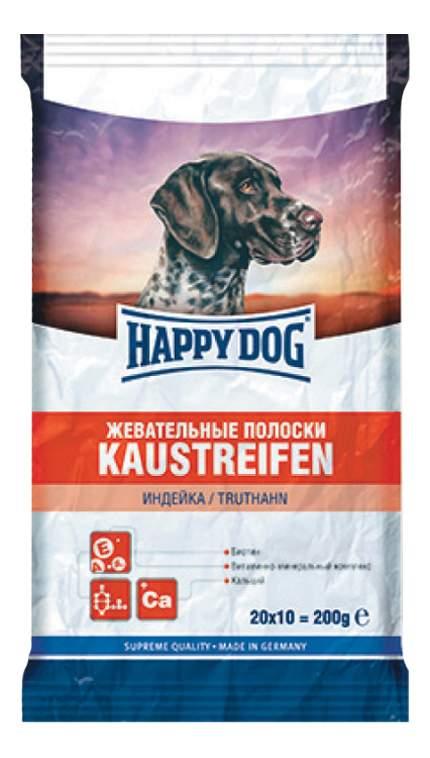 Фотография Лакомство для собак Happy Dog, жевательные полоски с индейкой, 200г №1