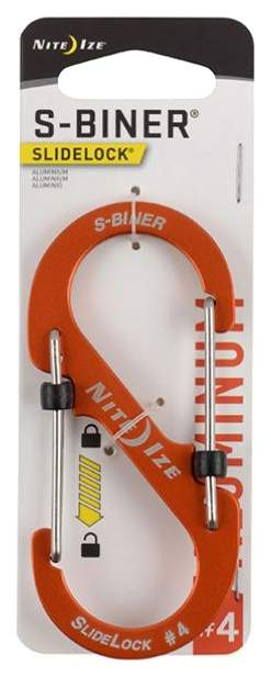 Карабин Nite Ize S-Biner SlideLock #4 LSBA4-19-R6 Aluminum Orange
