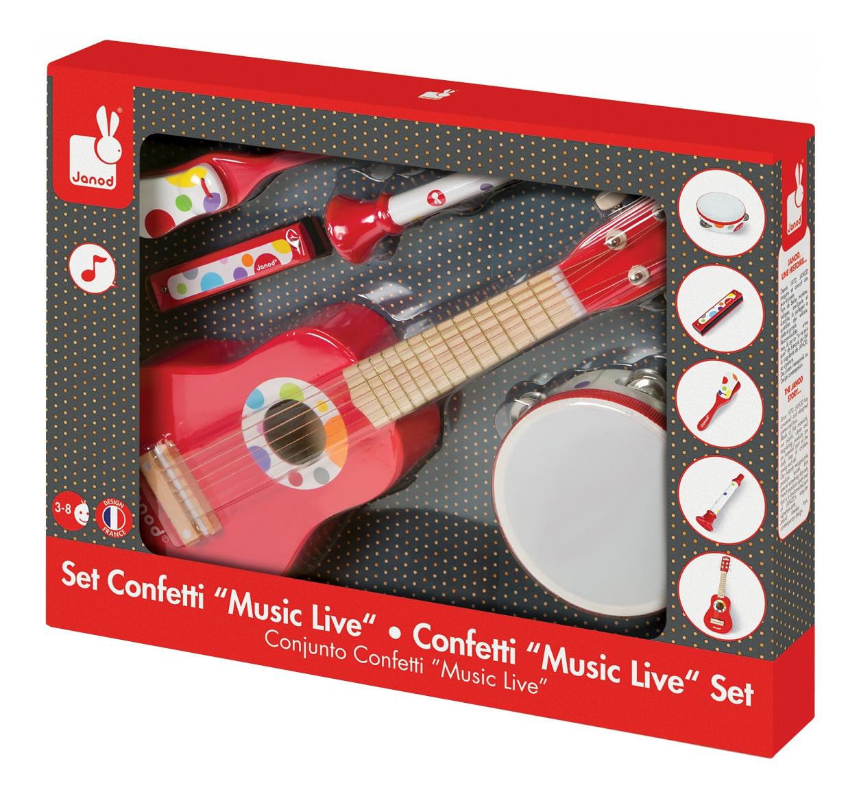 Набор музыкальных инструментов Janod Confetti красный