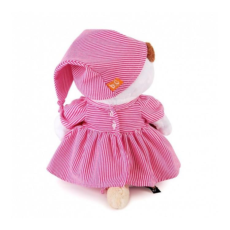 Мягкая игрушка BUDI BASA Кошечка Лили в розовой пижамке 27 см