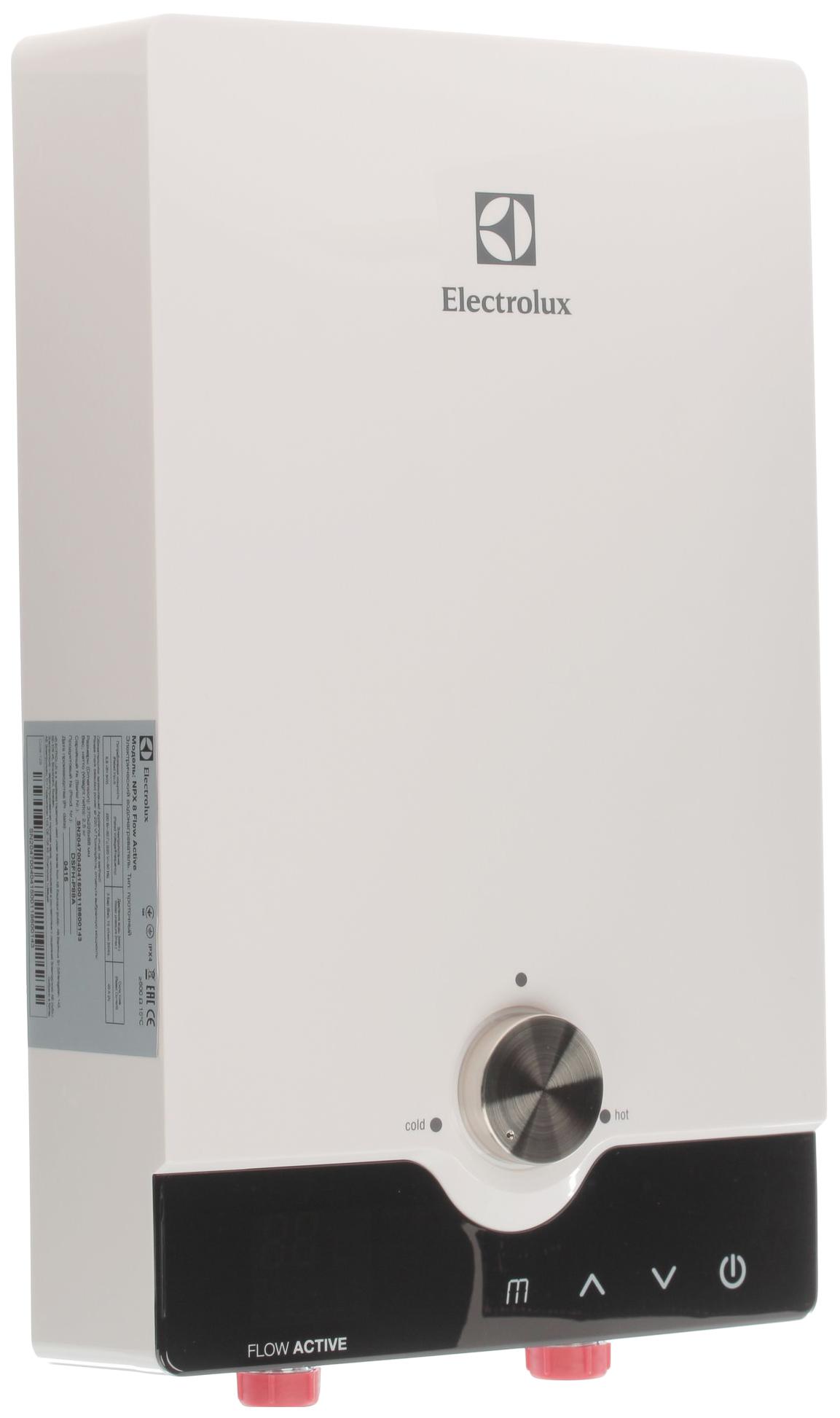 Водонагреватель проточный Electrolux NPX 8 Flow active white/black