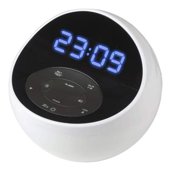 Радио-часы BVItech BV-48BWK Белый Синий