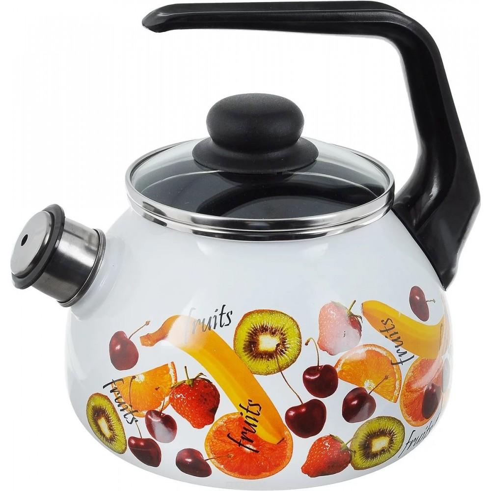 Чайник для плиты СТАЛЬЭМАЛЬ 1RA12 Fruits 2 л