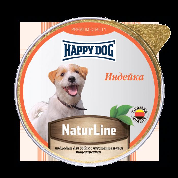 Миниатюра Влажный корм для собак Happy Dog Nature Line, индейка, 10шт, 125г №1