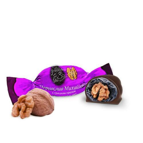 Фотография Фруктовичи конфета «Чернослив Михайлович» с грецким орехом в шоколадной глазури 500 гр. №1