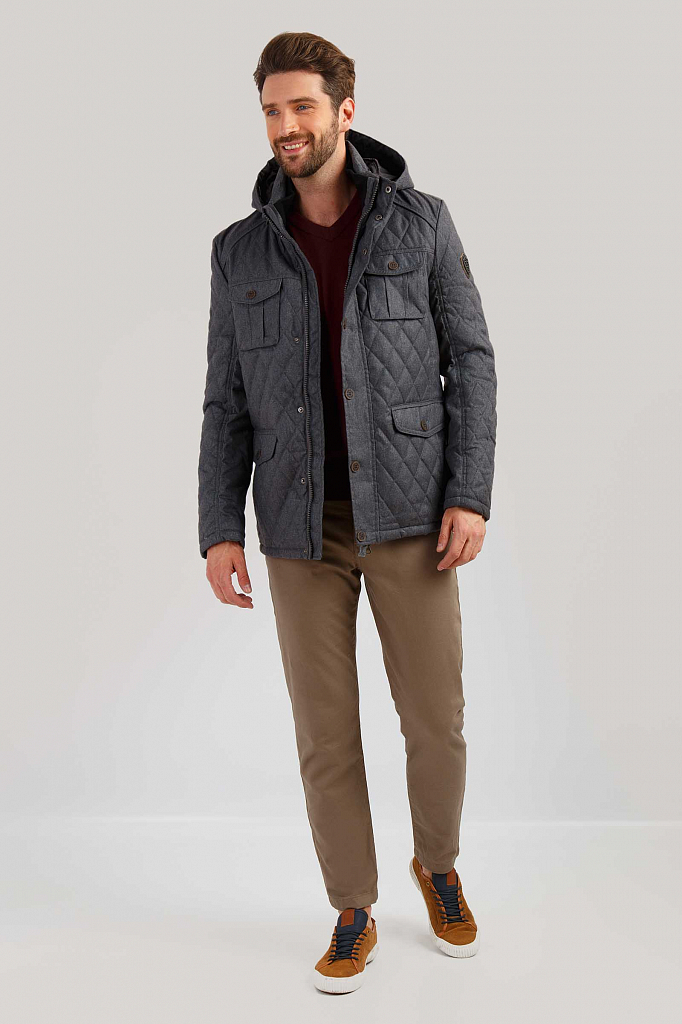 Куртка мужская Finn-Flare B19-22013 серая 2XL