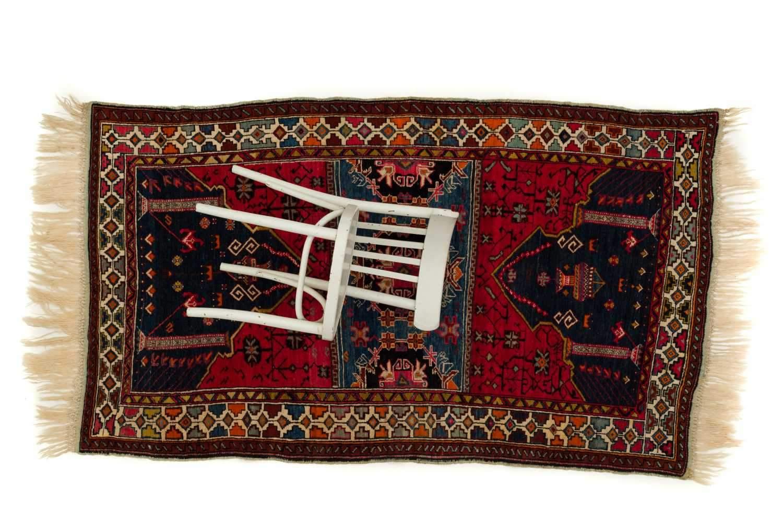 Антикварный Ковер Orazbai Collection Азербайджан Намазлык Со Свастиками 30-Гг XXв