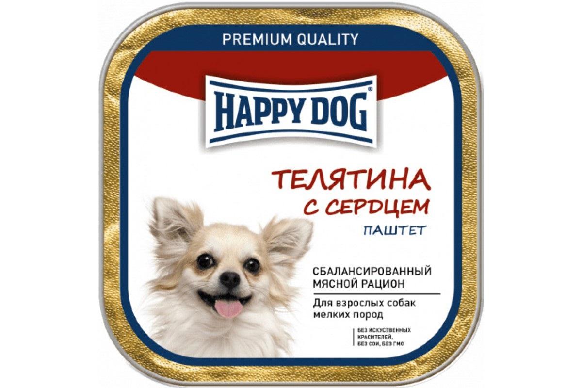 Фотография Консервы для собак Happy Dog NaturLine паштет, телятина, сердце, 125г №1