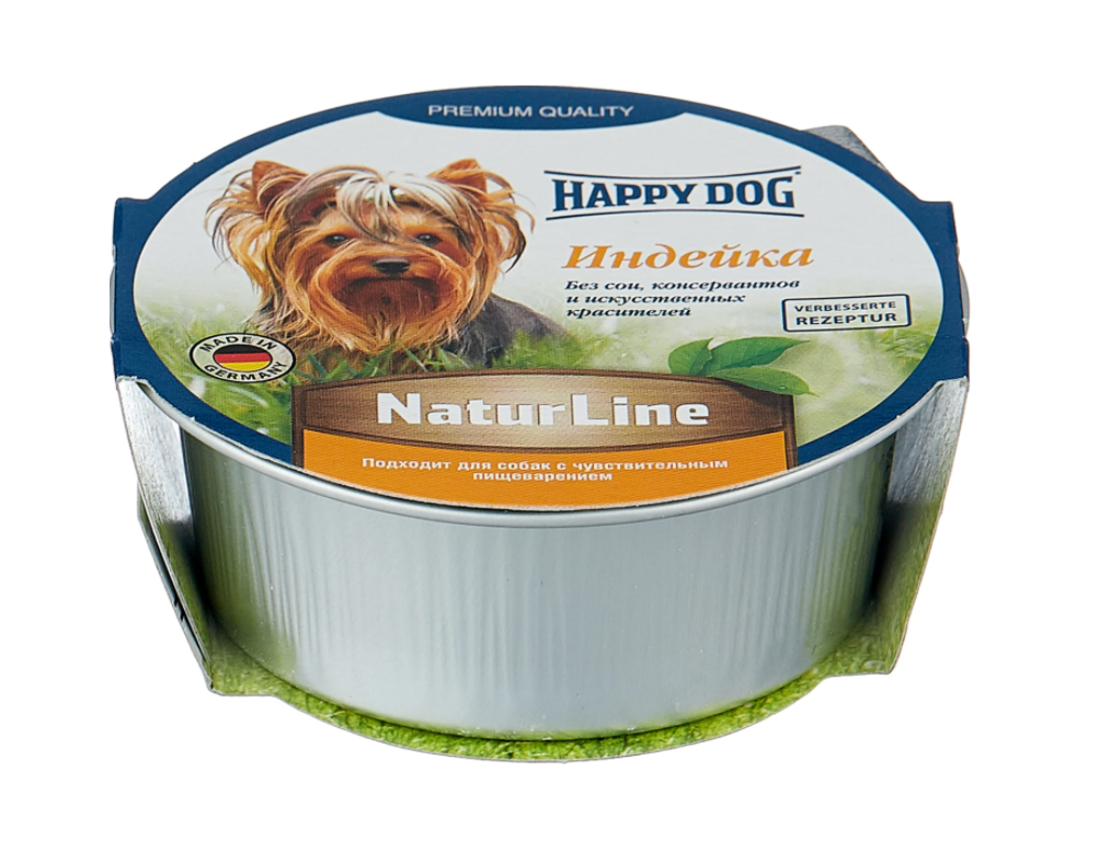 Фотография Консервы для собак Happy Dog NaturLine паштет, индейка, 125г №1